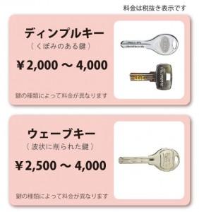 合カギ料金02